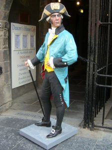 Deacon Brodie Figure on The Royal Mile (by Kim Traynor)