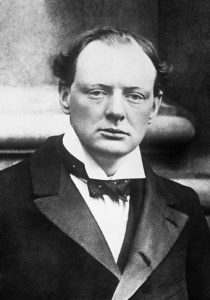 A youngish looking Winston Churchill